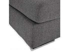 Pouf de canapé design 'LUCA ONE' gris foncé