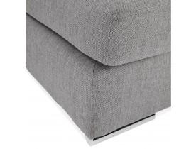 Pouf de canapé design 'LUCA ONE' gris clair
