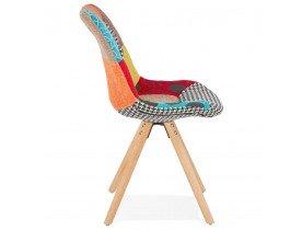 Chaise design 'LUCY' en tissu style patchwork