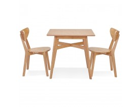Table à diner carrée 'MAEVA' en bois finition naturelle - 80x80 cm