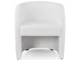 Fauteuil cabriolet de salon 'MAX' en matière synthétique blanche