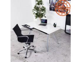 Fauteuil de bureau design 'MEGA' en similicuir noir