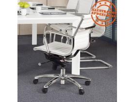 Fauteuil de bureau design 'MEGA' en similicuir blanc