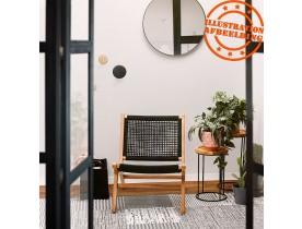 Fauteuil lounge de jardin 'RIVA' en bois naturel intérieur / extérieur