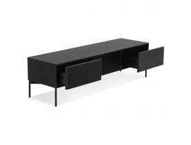 Meuble TV design 'MOVIE' en bois noir