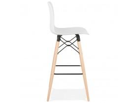 Tabouret de bar design 'MOZAIK' blanc style scandinave