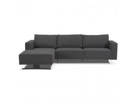 Petit canapé d'angle 'MOZART L SHAPE' gris foncé (angle à gauche)