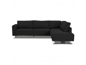 Canapé d'angle design 'MOZART LOUNGE' noir (angle à droite)