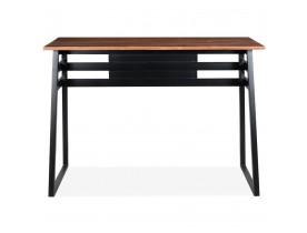 Table de bar haute 'NIKI' en bois massif et pied en métal noir - 150x60 cm
