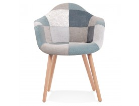 Chaise design avec accoudoirs 'NINA' style patchwork