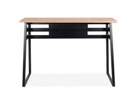 Table de bar haute 'NIKI' en bois finition naturelle et pied en métal noir - 150x60 cm