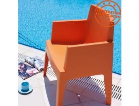 Chaise design 'PLEMO' orange en matière plastique