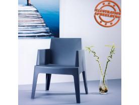 Chaise design 'PLEMO' grise foncée en matière plastique