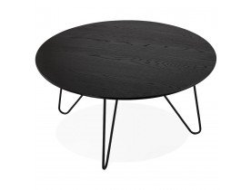 Table basse design 'PLUTO' noire style industriel