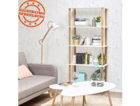 Étagère design 'RACK' blanche en bois style scandinave