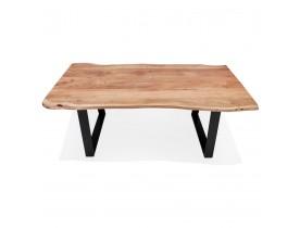 Table de salle à manger style industriel 'RAFA' en bois massif et métal - 160x90 cm