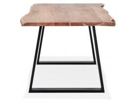 Table de salle à manger style industriel 'RAFA' en bois massif et métal - 300x100 cm
