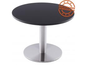 Plateau de table 'RINGO' rond Ø 70cm noir