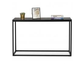 Table console style industriel 'RIVER' en bois et métal noir