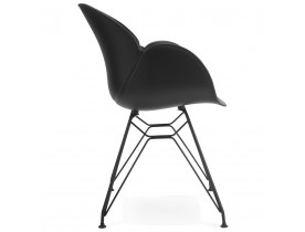 Chaise design 'SATELIT' noire style industriel