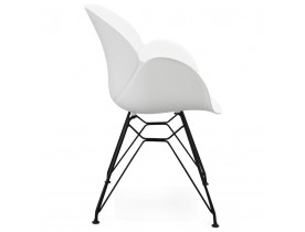 Chaise design 'SATELIT' blanche style industriel