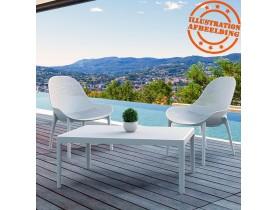 Fauteuil lounge de jardin perforé 'SILO' blanc design