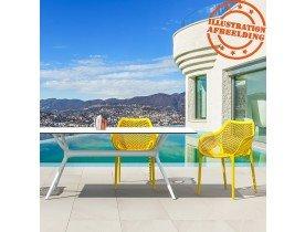 Chaise de jardin / terrasse 'SISTER' jaune en matière plastique