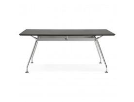 Grand bureau / table de réunion 'STATION' en bois peint noir - 180x90 cm