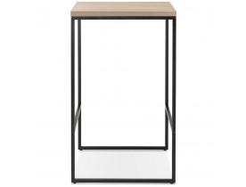 Table haute design 'STRAMOS' finition naturelle avec structure noire vouée aux pro de la restauration