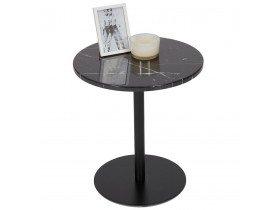 Table d'appoint en marbre 'STONE' ronde noire