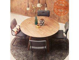 Table à dîner ronde 'SWEDY' en bois Noyer style scandinave - Ø 120 cm