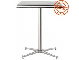 Pied de table 'TARGET' 75 en acier inoxydable