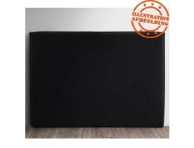 Tête de lit 'TIESTO' 160 avec revêtement en tissu noir