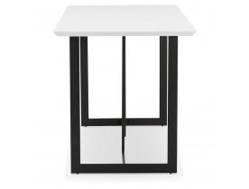 Table à diner / bureau design 'TITUS' en bois blanc - 150x70 cm