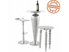 Table d'appoint 'TRIO en aluminium poli