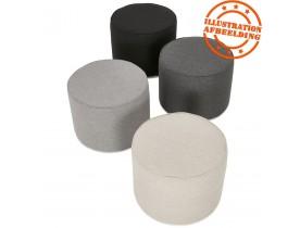 Repose-pied / pouf 'TULIP' en tissu gris foncé