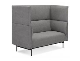 Canapé acoustique 2 places 'VISAVI' avec haut dossier en tissu gris foncé