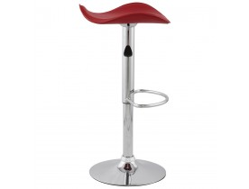 Tabouret de bar / cuisine 'WAVE' en similicuir rouge