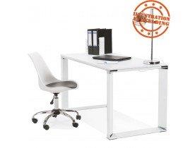 Petit bureau droit design 'XLINE' en bois blanc - 140x70 cm
