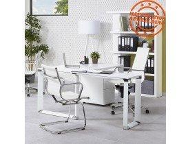 Bureau d'angle design 'XLINE' en bois blanc (angle au choix)