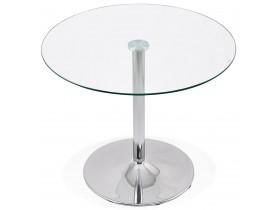 Petite table de cuisine ronde 'YOUPI' en verre - Ø 90 cm