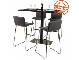 Plateau de table 'ZINC' 140x70cm en bois noir