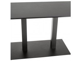 Table / bureau design 'ZUMBA' noir - 180x90 cm