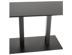 Table / bureau design 'ZUMBA' noir - 150x70 cm