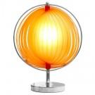 Lampe de table à poser 'LUNA' à lamelles plastique orange
