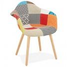 Chaise design avec accoudoirs 'RAMBLA' style patchwork