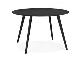 Table de cuisine ronde 'AMY' noire - ø 120 cm
