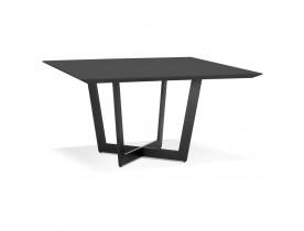 Table de salle à manger carrée 'ANITA' en bois et métal noir - 140x140 cm