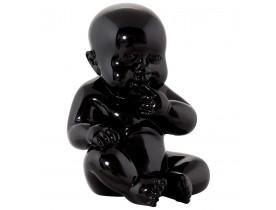Statue déco 'BABY' bébé assis en polyrésine noire