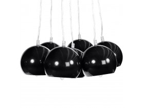 Suspension design 'BILBO' 7 boules noires suspendues